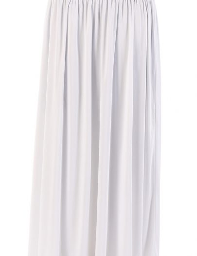 White Everyday Flowy Skirt Black