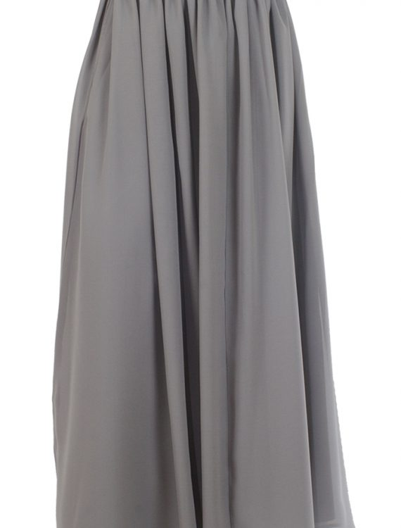 Basic Grey Georgette Skirt Black