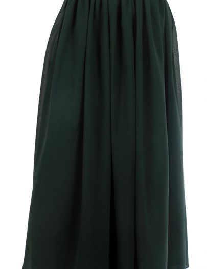 Basic Green Georgette Skirt Green