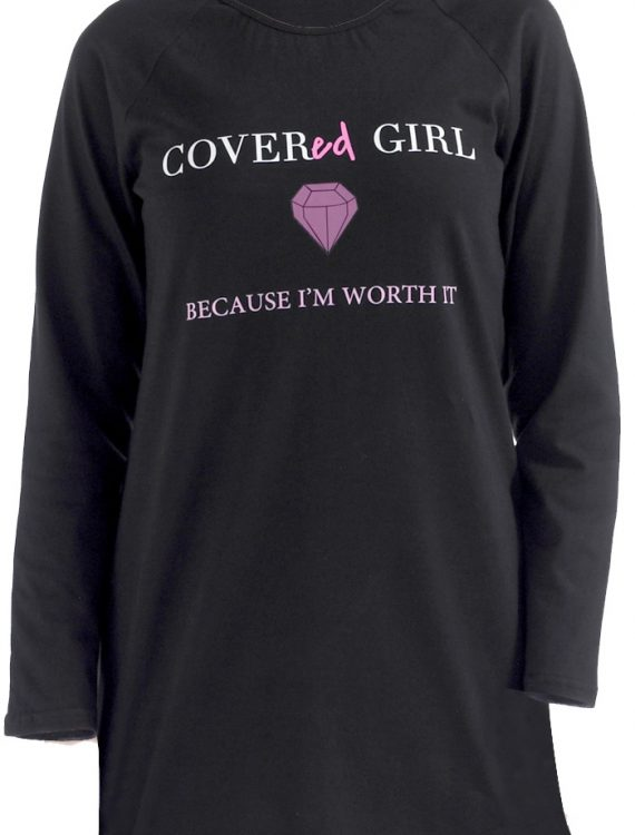 Covered Girl T-Shirt Black