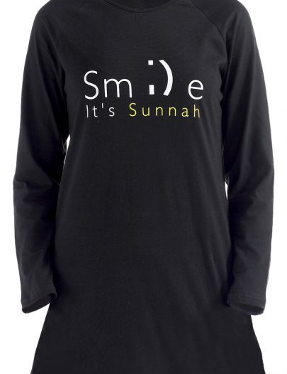 Smile Its Sunnah T-Shirt Black