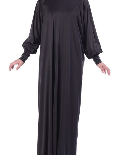 Black Knit Dress Abaya