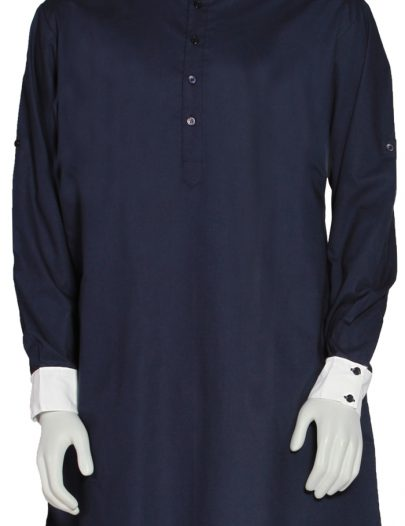 Mens Single Layer Kurta Black