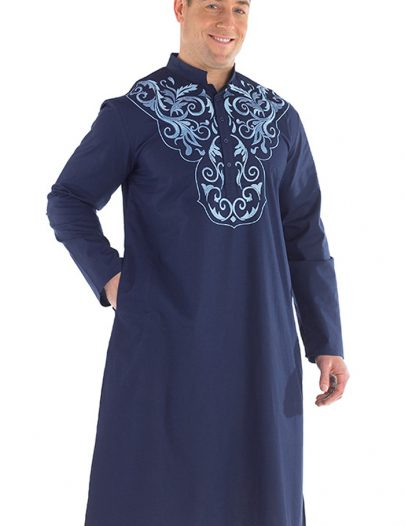 Aarib Embroidered Men's Kurta Black