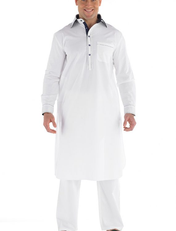 Afham Men's Kurta Set White