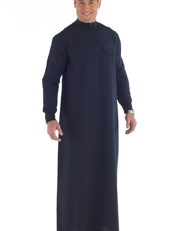 Areez Men's Jubba Dishdasha Black