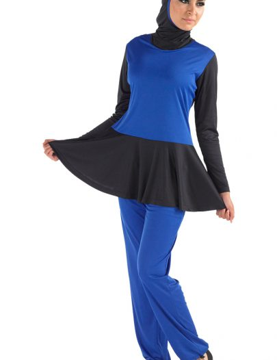 Azraq Burqini Set Blue With Black