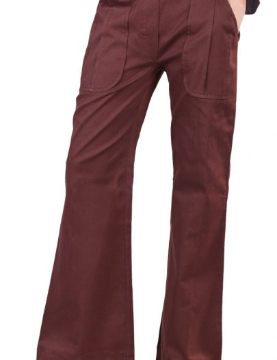 Brown Cotton Pants Brown