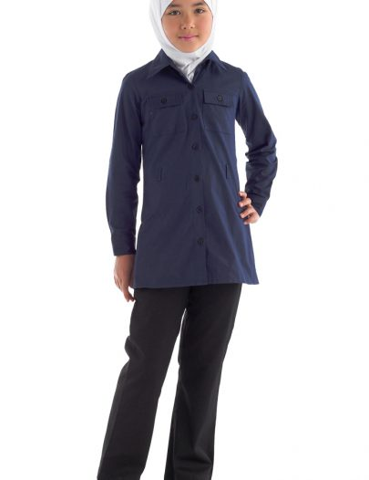 Button Down Uniform Tunic Navy