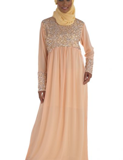 Evening Glory Abaya Peach