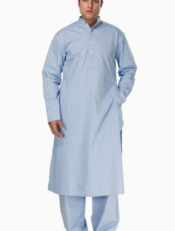 Fadil Kurta Set Blue