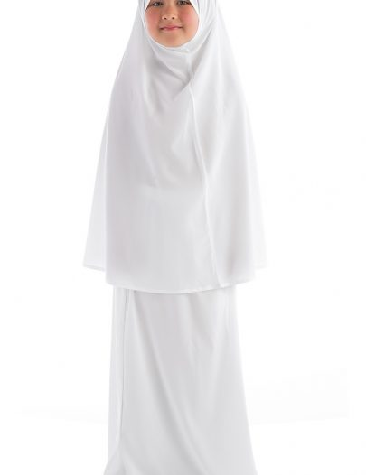 Girls Prayer Abaya White
