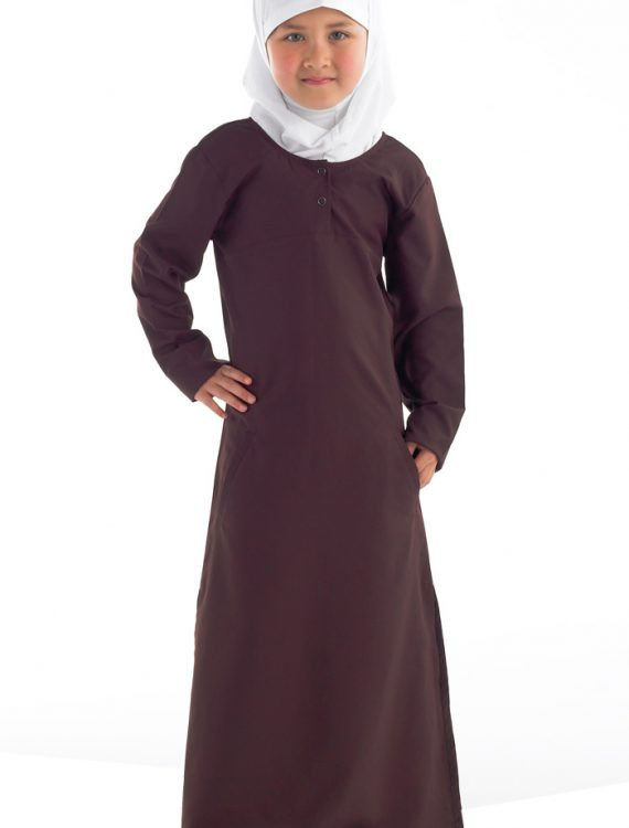 Girls Abaya With Sunrise Academy Logo Navy