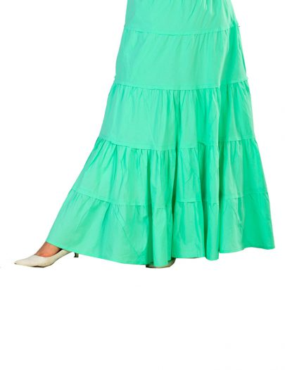 Jeweled-Waist Skirt Mint