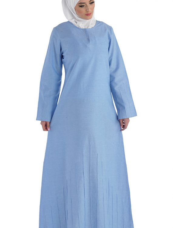 Long Sleeve Abaya Dress Final Sale Item Blue
