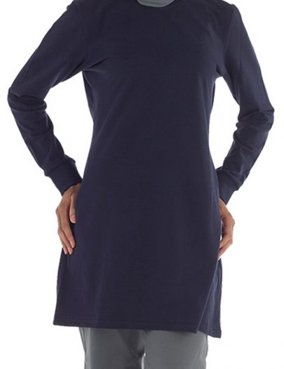 Long Sleeved Modest Gym Shirt Women's Size Navy
