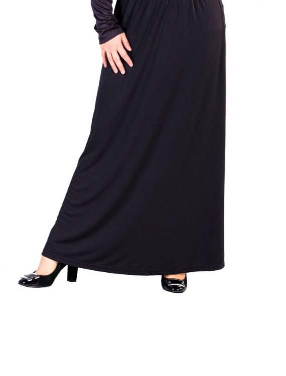 Microfiber Knit Skirt Black