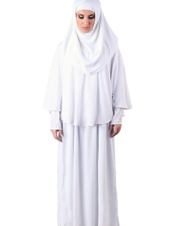 Prayer Abaya White