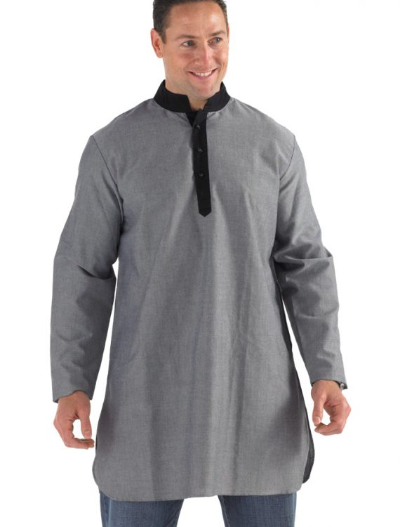 Sahaar Manadarin Collar Kurta Grey/Black