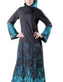 Sareena Abaya Sequin (Set) Black