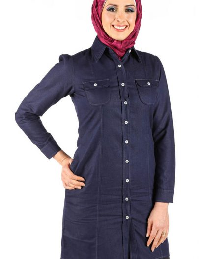 Western Denim Tunic Blue