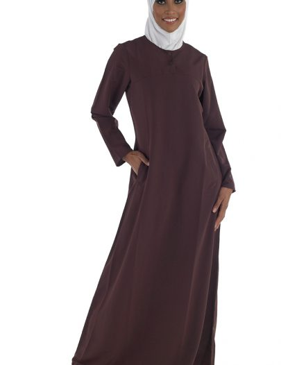 Women's Abaya With Sunrise Academy Logo Navy