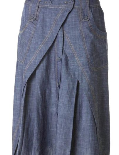 Wrapup Denim Skirt Blue
