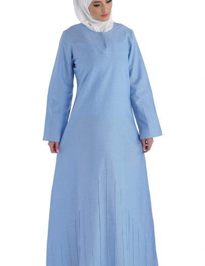 Young Girls Chambray Baha Abaya Blue