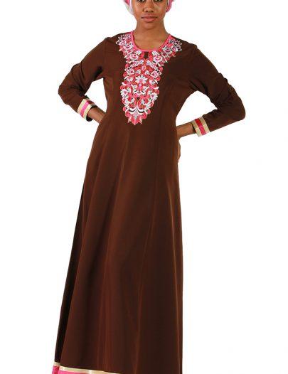 Janiyah Brown Abaya Black