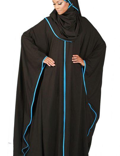 Butterfly Kaftan Abaya With Hijab Included Black