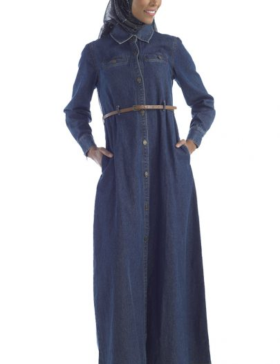 Stylish Denim Abaya Blue