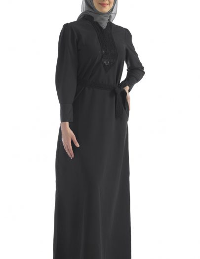 Black Abaya With Belt
