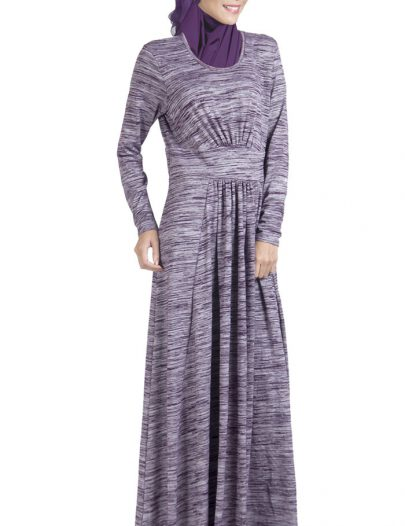 Slip On Cotton Knitted Abaya Dress