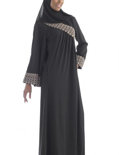 Black Crepe Abaya