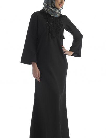 Black Hooded Abaya