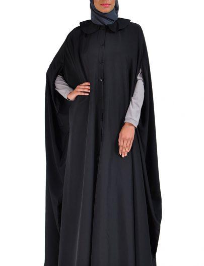 Cape Jilbab Dress Black
