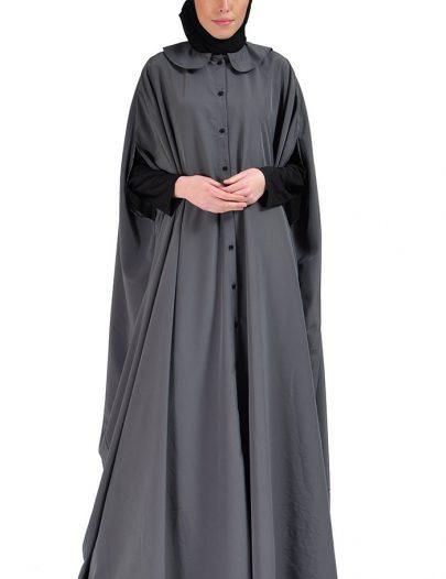 Cape Jilbab Dress Dark Grey
