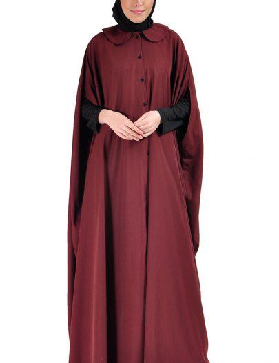 Cape Jilbab Dress Maroon