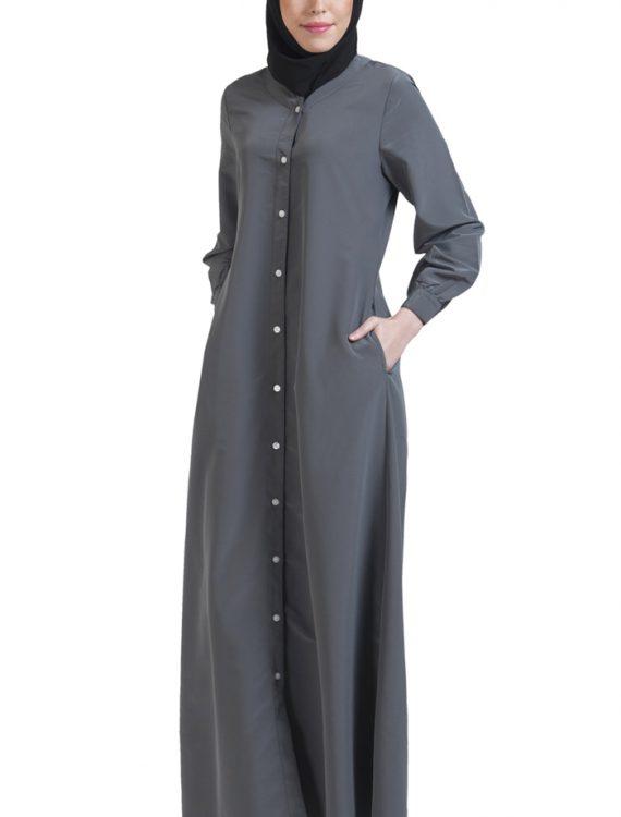 Basic Abaya Grey