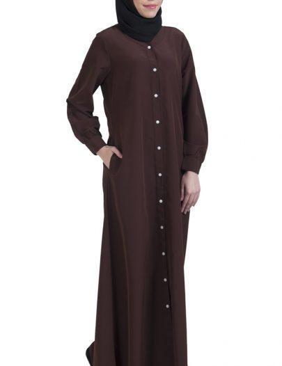 Basic Abaya Brown