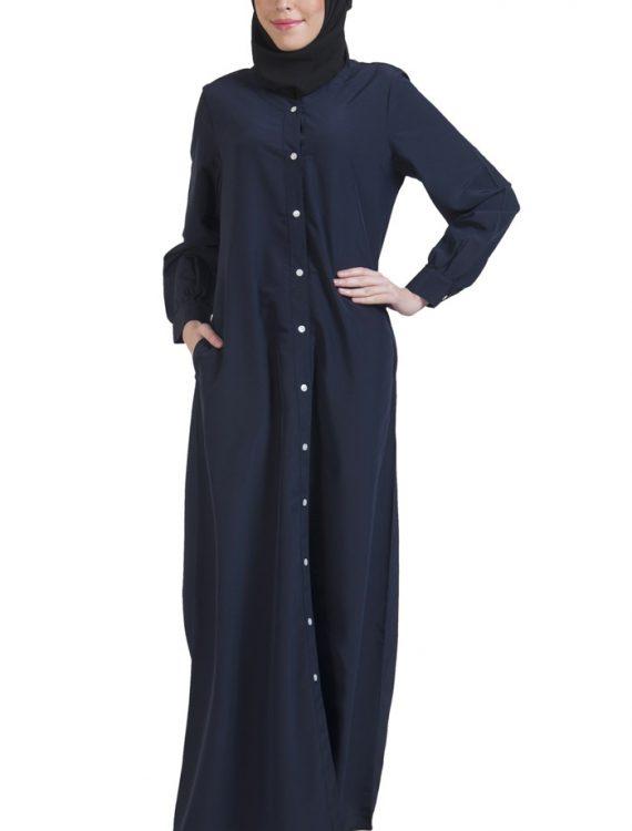 Basic Abaya Navy