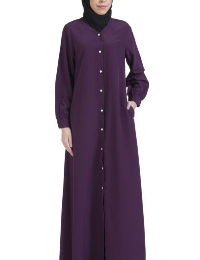 Basic Abaya Purple