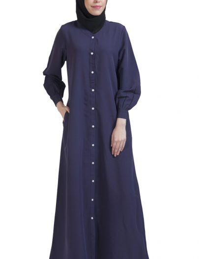 Basic Abaya Violet