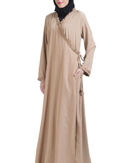 Wrap Around Everyday Abaya Sand