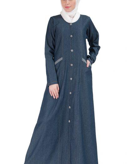Denim Jilbab Dress Blue