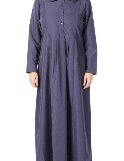 Modest High Waist Abaya Violet