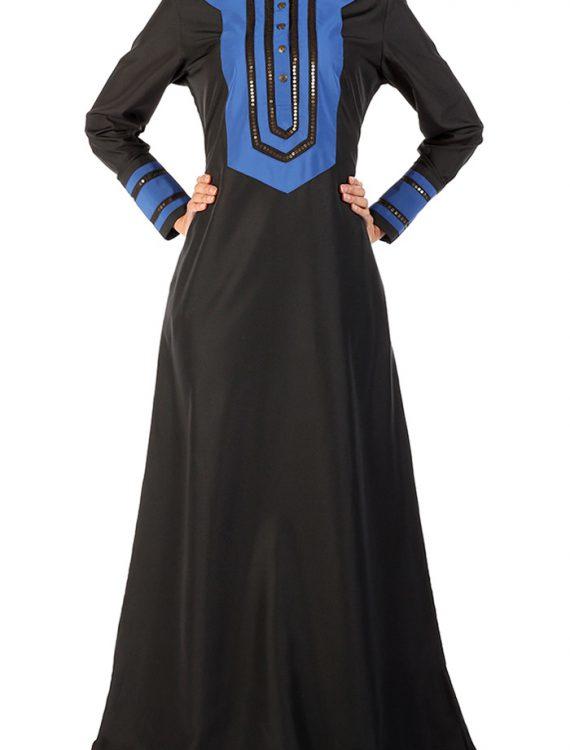 Black A Line Embroidered Abaya