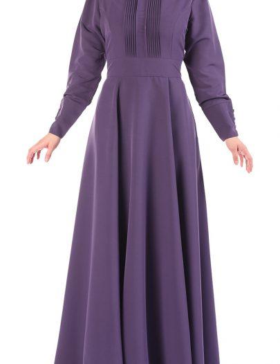 Halahigh Waist Abaya Violet