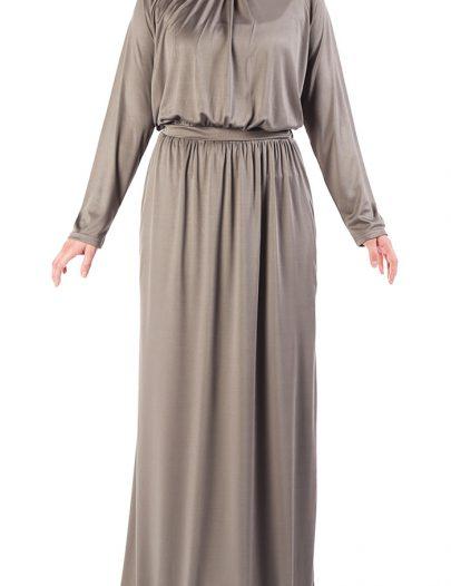 Knit Abaya Dress Black