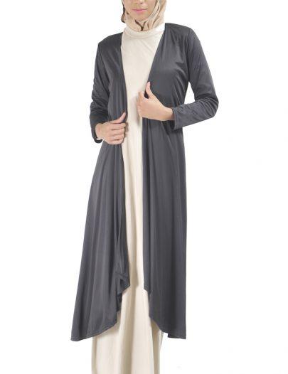 Classy Knit Shrug Robe Black